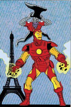 X-Statics Cover: Iron Man and Mr. Sensitive Marvel Comics Poster - 61 x 91 cm Marvel Comic Character, Comic Book Characters, Comic Books Art, Disney Characters, Book Art, Mike Allred, Comic Art Community, Comic Poster, Manga Comics