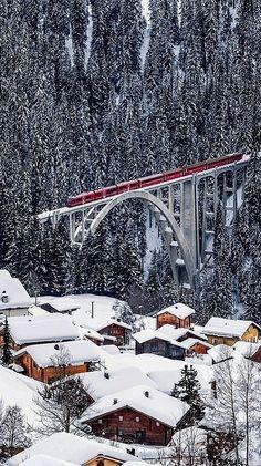 langwies viaduct, switzerland