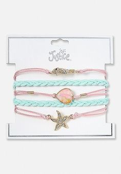 Justice is your one-stop-shop for on-trend styles in tween girls clothing & accessories. Shop our Braided Mermaid Charm Bracelet. Girls Jewelry, Cute Jewelry, Modern Jewelry, Geek Jewelry, Contemporary Jewellery, Ankle Bracelets, Jewelry Bracelets, Mode Instagram, Justice Accessories