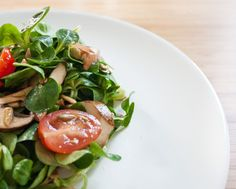 schneller Feldsalat mit Champignons - The Vegetarian Diaries