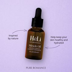 Miracle Oil Pure Romance by Allyssa Kammerzell Natural Antifungal, Pure Romance Consultant, Sweet Almond Oil, Tea Tree Oil, Beauty Care, Healthy Skin, Perfume Bottles, Pure Products, Consultant Business