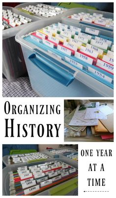 Organizing History One Year at a Time - Hobbies on a Budget - - If you are ready to study your family heritage you will need to be organized. Check out these tips for organizing history one year at a time! Free Genealogy Sites, Genealogy Forms, Genealogy Research, Family Genealogy, Genealogy Organization, Organizing Papers, Paperwork Organization, Scrapbook Organization, Organising