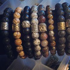 Mens bracelets! Hermosas pulseras pensadas para hombres! Piedras naturales! Energía!