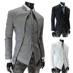 Herren Mantel Anzug Sakko Blazer Suits Jacke Business Jackett Hochzeit Party € Source by The p Terno Casual, Casual Blazer, Men Blazer, Blazer Jacket, Casual Suit, Man Jacket, Gray Blazer, Casual Man, Stylish Suit