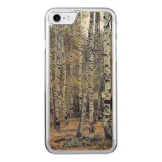 Birch forest Apple iPhone 8/7 Slim Maple Wood Case - autumn gifts templates diy customize