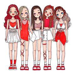 Check out Black Velvet @ Iomoio Wendy Red Velvet, Red Velvet Joy, Black Velvet, Red Velet, Kpop Drawings, Chibi Girl, Korean Art, Kpop Fanart, Girl Bands