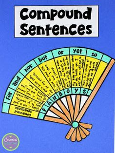 Sentences FREE Compound Sentences Craftivity- Help students remember the coordinating conjunctions by using the FANBOYS acronym.FREE Compound Sentences Craftivity- Help students remember the coordinating conjunctions by using the FANBOYS acronym. Grammar Activities, Teaching Grammar, Teaching Aids, Teaching Writing, Writing Skills, Writing Ideas, Types Of Sentences, Complex Sentences, Sentence Types