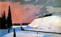 Георгий Нисский  Подмосковье. Февраль (1957)