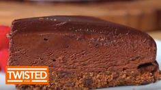 Chocolate Chunk Mousse Cake  http://twistedfood.co.uk/triple-chocolate-mocha-mousse-cake/  digestive biscuits in crust
