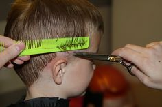 Tips on how to cut a boy's hair. Need to read, but I may not have enough guts to try it!