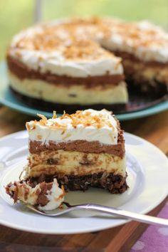 BrownieBottom Coconut Chocolate Cream Cake