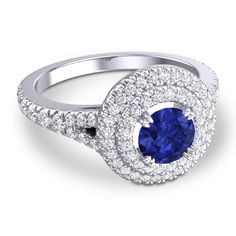 Can't decide whether you prefer sapphires or diamond? Have them both with Azeera ABUNDANCE RING