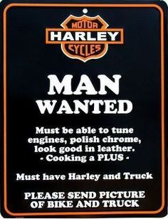 Harley Man Wanted