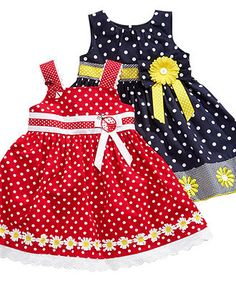 Blueberi Boulevard Baby Dress, Baby Girls Sundress- I'm such a sucker for polka dots. Toddler Dress, Baby & Toddler Clothing, Toddler Outfits, Kids Outfits, Little Dresses, Little Girl Dresses, Baby Frocks Designs, Baby Dress Design, Baby Dress Patterns