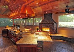 great kitchen, love the ceiling and the million dollar view.