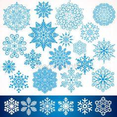 Скачать - Художественные вектор снежинки — стоковая иллюстрация #23709671