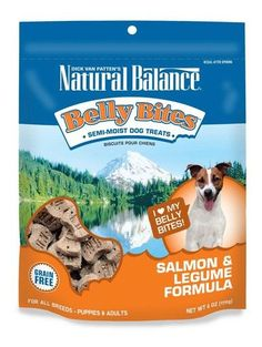Natural Balance Belly Bites Salmon & Legume Formula Grain Free Dog Treats 6oz