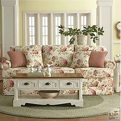 Beautiful Floral Print Sofa, All It Needs Is A Matching Love Seat!