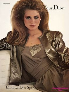 Kim Alexis rocking huge hair in the 80s And 90s Fashion, Trendy Fashion, Vintage Fashion, Vintage 70s, Womens Fashion, Fashion Photo, Fashion Beauty, Girl Fashion, Kim Alexis