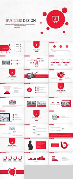 Red Creative business design PowerPoint template on Behance Powerpoint Design Templates, Creative Powerpoint, Keynote Template, Business Design, Creative Business, Business Company, Presentation Deck, Company Profile Presentation, Presentation Skills