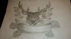 Deer and Roses