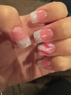 Glitter baseball nails