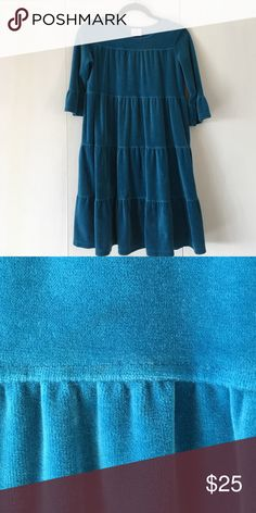 Hanna Andersson velour dress Soft pullover dress from maker of  soft cotton Swedish clothing -- they size by height and fit is both flattering and forgiving Hanna Andersson Dresses