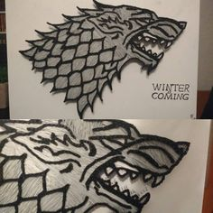 One of my best works so far. This Game Of Thrones direwolf looks so awesome.