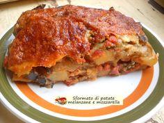 Sformato+di+patate+con+melanzane+e+mozzarella