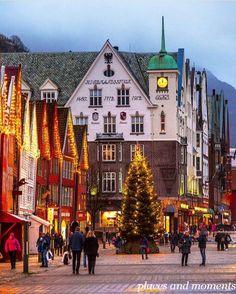 Christmas in Bergen, Norway.