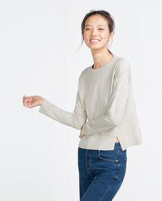 PLUSH TOP - Sweatshirts - WOMAN | ZARA Austria