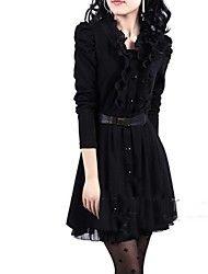 52.48  Women s Black Lace Long Sleeved Coat 7c982d435a0