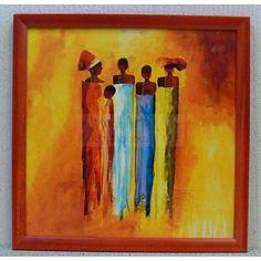 schilderijen van afrikaanse vrouwen - Google zoeken Wal Art, African Art Paintings, Artwork For Home, Simple Art, Poster, Afrikaanse Kunst, Olie, Africans, African Style