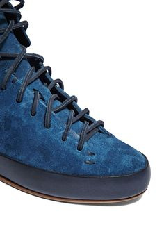 new product 43ca6 17d34 Feit Hand Sewn Super High shoes in Indigo   LN-CC High Shoes, Suede