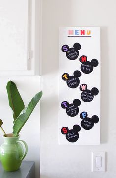 DIY Mickey Weekly Meal Planner | family + home DIY hacks with a Disney twist | […