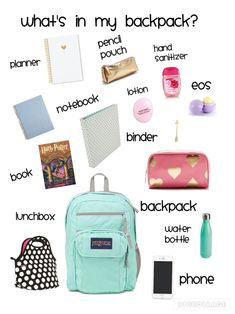 Bag-sac-back-to-school-fournitures-papeterie-materiel school supplies highschool sophmore, back to school study tips, back to school cake
