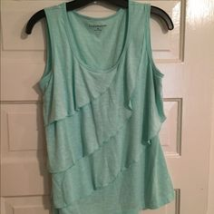 Super cute light teal flowy tank- like new!! Great for layering for the fall! Croft & Barrow Tops Tank Tops