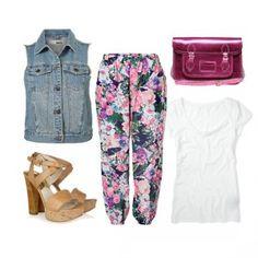 Outfit colorido, encuentra más looks para combinar chalecos aquí..http://www.1001consejos.com/como-combinar-chalecos-de-mezclilla/