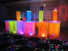 cool lighted bar