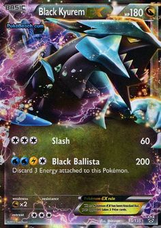 Ultra Legendary Pokemon Cards | Black Kyurem Ex Plasma Storm 95/135 Pokemon Card Ultra Rare