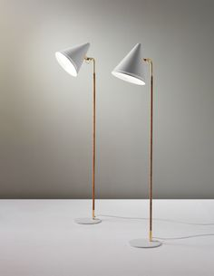 PAAVO TYNELL, Pair of standard lamps, model no. 9627