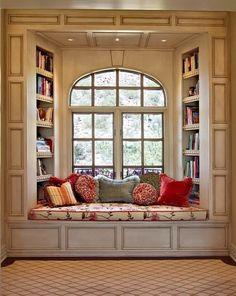 How to turn a closet into a cozy book nook