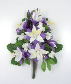 Polymer Clay Flowers, Moutain Columbine Bouquet