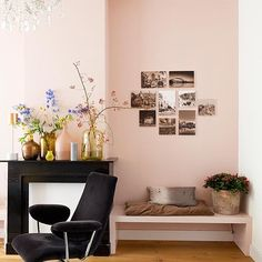 Soft powdery vintage pinks or electric pinks work great against black details too.