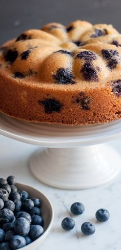 A delicious recipe for Blueberry Lemon Cake using crème fraîche, sour cream or natural yoghurt to produce a fluffy and moist cake. Bake it in a bundt tin to make it extra special! Cupcake Recipes, Baking Recipes, Cupcake Cakes, Dessert Recipes, Poke Cakes, Layer Cakes, Easy Desserts, Delicious Desserts, Yummy Food
