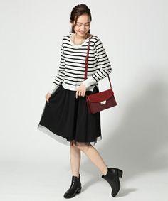 Docking knit dress / 548414 GLOBAL WORK WOMEN (global work Women) (Dresses)   detailed image