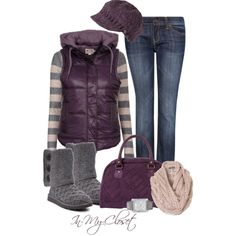 Winter Outfit, perfect for me I love all shades of purple!!