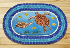 Earth Rugs Sea Turtle Oval Patch Braided Area Rugs Are A Great Addition For Your Home Or Cabin For That Great Country Feeling!!!! ON SALE NOW!!!!