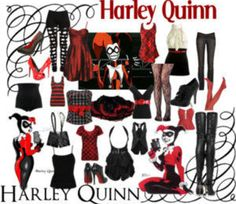 I got this picture from google images when I was googling Harley Quinn. Would you wear these clothes? I totally would! You`d be the life of the party with this,