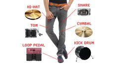 News DrumPants, jouez de la musique sur vos vêtements - Audiofanzine  #wearable #music #crowdfunding